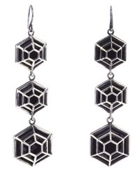 Bottega Veneta | Metallic Cage Drop Earrings | Lyst