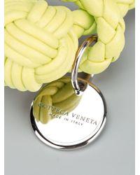 Bottega Veneta - Yellow Leather Weave Bracelet - Lyst