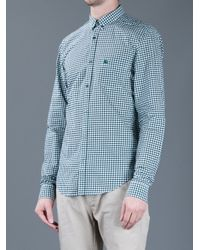 Burberry Brit - Green Checked Print Shirt for Men - Lyst