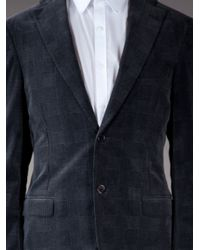 Burberry | Gray Checked Blazer for Men | Lyst
