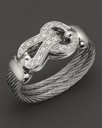 Charriol Classique Collection 18k White Gold Diamond Ring