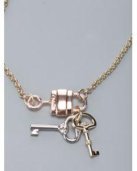 Chloé - Metallic Padlock and Keys Charm Bracelet - Lyst
