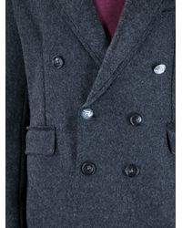 De'Hart - Gray Double Breasted Sweater for Men - Lyst