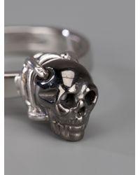 Delfina Delettrez Metallic Skull Ring