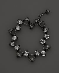 Di Modolo - Black Icon Single Row Rock Crystal Bracelet - Lyst