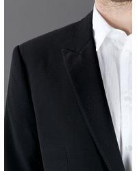 Dolce & Gabbana Black Textured Tuxedo Suit for men