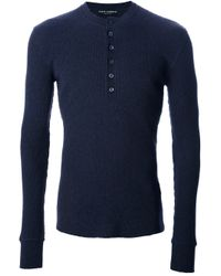 Dolce & Gabbana Blue Serafino Shirt for men