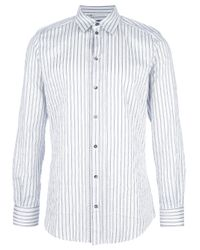 Dolce & Gabbana Blue Striped Shirt for men