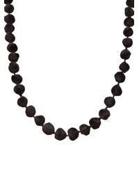Dosa - Brown Knotted Channa Bead Necklace - Lyst