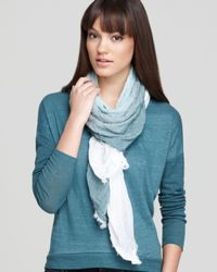 Eileen Fisher Multicolor Ombre Weave Square Scarf
