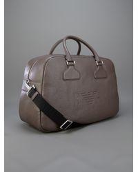 Emporio Armani Natural Embossed Logo Bag for men