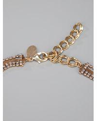 Erickson Beamon | Metallic Crystal Necklace | Lyst