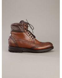 Fabi | Brown Brogue Boot for Men | Lyst