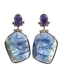 Federica Rettore - Blue Tanzanite Drop Earrings - Lyst