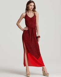 French Connection Red French Connection Maxi Dress Ziggy Silk