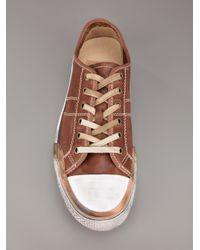 Frye Brown Leather Sneaker for men
