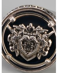Givenchy - Metallic Crest Ring - Lyst
