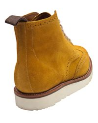 Foot The Coacher Yellow Lewis Wingtip Oxford Boot for men