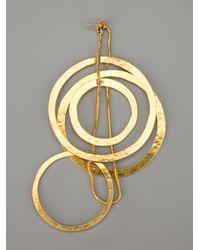 Herve Van Der Straeten - Metallic Circle Chain Earrings - Lyst