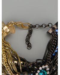 Iosselliani Metallic Rams Head Crystal Tangled Bracelet