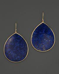 Ippolita - Metallic Ippolita 18k Gold Polished Rock Candy Jumbo Teardrop Earrings in Lapis - Lyst