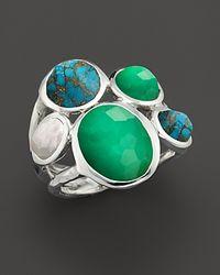 Ippolita | Metallic Ippolita Seafoam Wonderland Sterling Silver 5 Stone Ring in Seafoam | Lyst