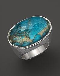 Ippolita - Metallic Ippolita Sterling Silver Wonderland Oval Ring in Bronze Turquoise - Lyst