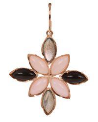 Irene Neuwirth Pink Mixed Stone Earrings