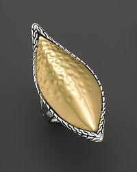 John Hardy | Metallic Palu Kapal 22k Gold and Sterling Silver Large Sail Ring | Lyst