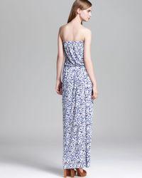 Joie Blue Maxi Dress Groovy Ikat Print