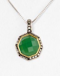 Judith Jack - Metallic Octagon Apple Chalcedony Necklace 18 - Lyst