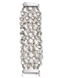 kate spade new york | Metallic Crystal Petals Statement Bracelet | Lyst