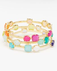kate spade new york | Green Coated Confetti Thin Bangle | Lyst
