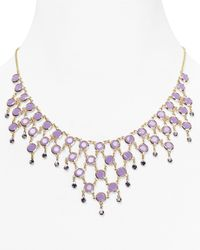 kate spade new york - Purple Sparkle Dunes Bib Necklace 165 - Lyst