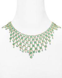 kate spade new york | Green Sparkle Dunes Super Statement Necklace 155 | Lyst