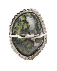 Kimberly Mcdonald - Pink Large Dark Geode and Rose Cut Diamond Ring - Lyst