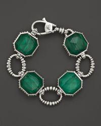 Lagos - Green Sterling Silver Malachite Color Rocks Large Link Bracelet - Lyst