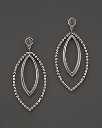Lagos - Metallic Sterling Silver Marquis Twist Earrings - Lyst