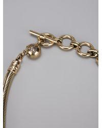 Lanvin - Metallic Breast Plate Pendant Necklace - Lyst