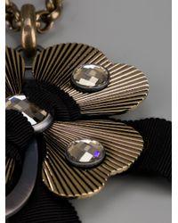 Lanvin Metallic Cloverleaf Necklace
