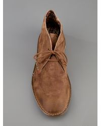 Lecrown Natural Suede Desert Boot for men