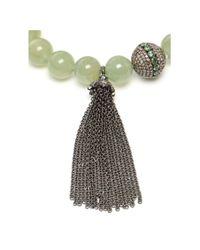 Loree Rodkin - Green Aqua and Diamond Charm Bracelet - Lyst