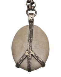 Lou Zeldis - Metallic Peace Pebble Necklace - Lyst