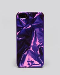 Marc By Marc Jacobs Purple Iphone 5 Case Metal Wrapper