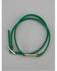 McQ Green Razor Wrap Bracelet