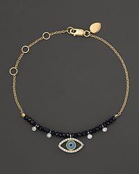 Meira T - Metallic Turqoise Evil Eye Bracelet - Lyst