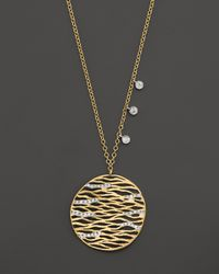 Meira T - Metallic . Diamond And 14k Yellow Gold Tree Of Life Necklace - Lyst