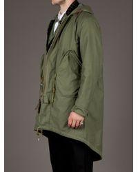 Miharayasuhiro Green Hooded Jacket for men