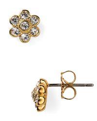 Nadri - Metallic Crystal Flower Stud Earrings - Lyst