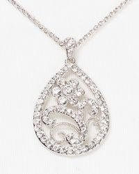 Nadri - Metallic Butterfly Teardrop Pendant Necklace  - Lyst